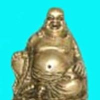 Brass Statue of Laughing Buddha