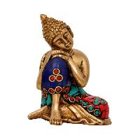 Brass Buddha Decorative Showpice