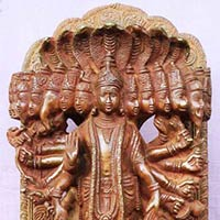 Lord Vishnu Brass Metal Statue