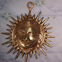 Metal Craft Sun & Moon Face Wall Hanging Decor