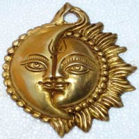 Sun Face Metal Wall Hangings, Moon Face Metal Wall Hangings