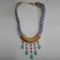 Bohemian Necklace in Fabric