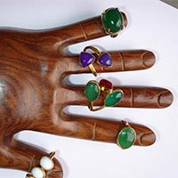 Coloured Stone Rings