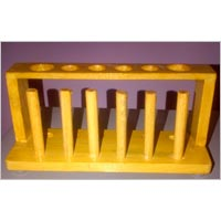 Test Tube Rack Wooden 6 Tubes