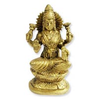 MahaLaxmi Idol in Brass
