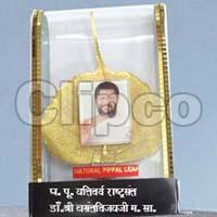 Natural Pipal Leaf big with Brown Photo Stand