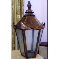 Hexagonal Copper Lamp