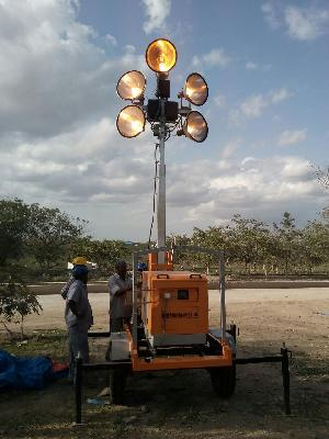 trolley mounted Lighting Tower