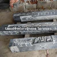 Black Stone Temple Frame Sculpture