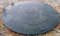 Black Lime with Border Circle Stone