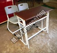 Classroom Desk And Chair Set 01