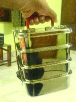 Square Stainless Steel Tiffin