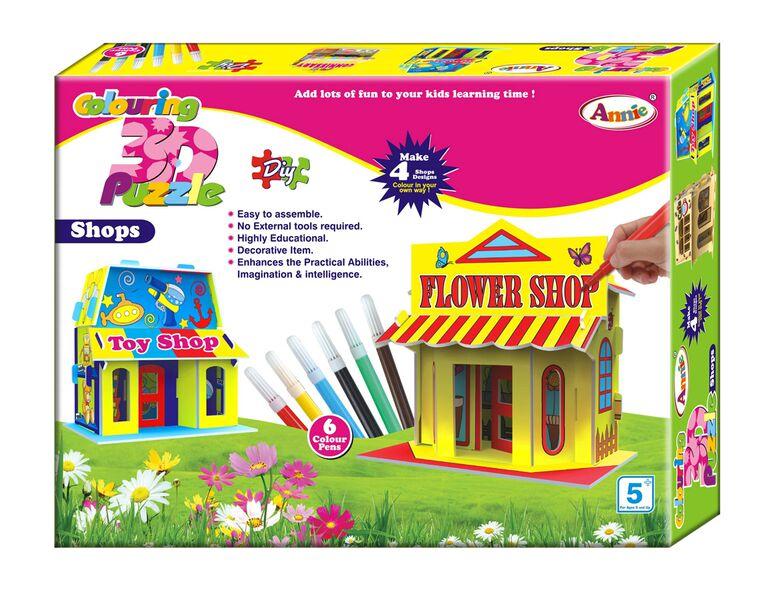 Colouring 3D Puzzle Shops