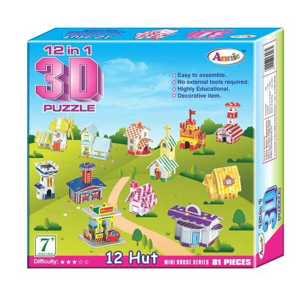 12 in 1 3D Puzzle