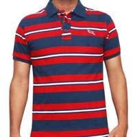 Mens Cotton Knitted Polo T-Shirt