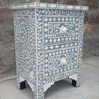 Bone Inlay Bedside Cabinet (NB-BIBC-103)