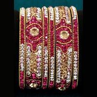 Lakh Brass Bangles Set