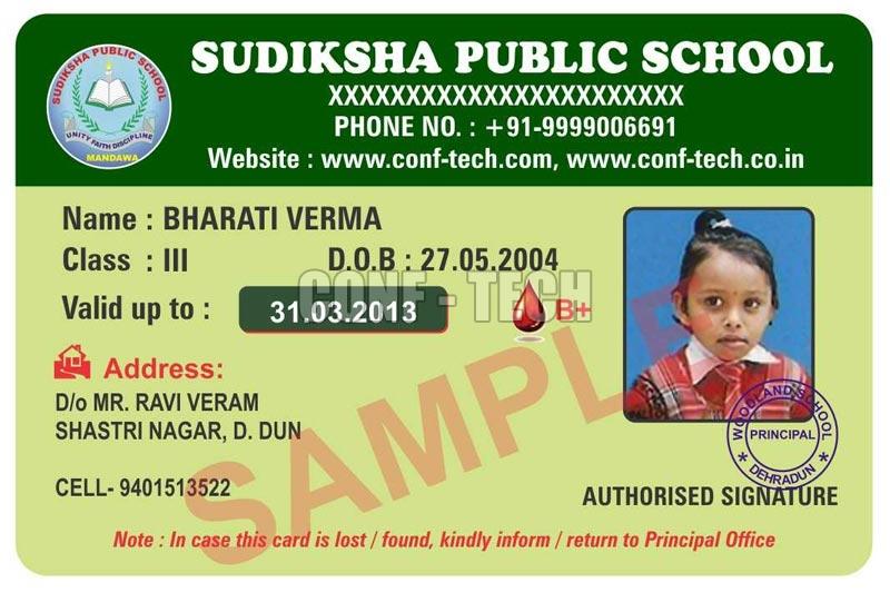 Sudiksha Public School Identity Cards