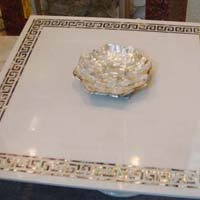 Mother of Pearl and Semi Precious Stone Table Top 13