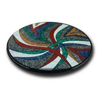Mother of Pearl and Semi Precious Stone Table Top 17