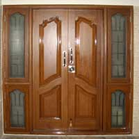 Burma Teak Wood Entrance Door