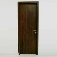 Mahogany Single Wooden Door 02