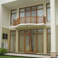 Teak Wood Balcony Stairway