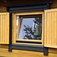 Wooden Folding Window 01