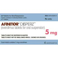 Afinitor Disperz Everolimus 5 mg Tablet