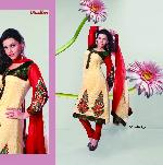 Indian Designer Yellow Unstitched Salwar Suit