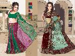 Indian Embroidered Partywear Saree