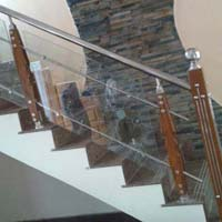 Stainless Steel & Wood Railings