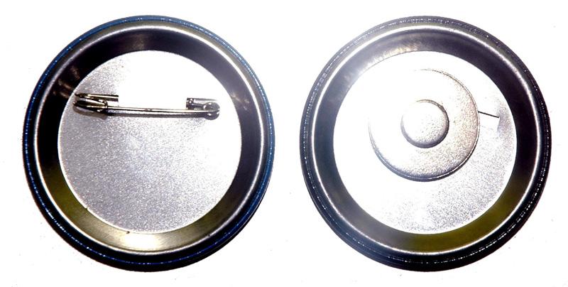 Backside Pin & Magnet Badges