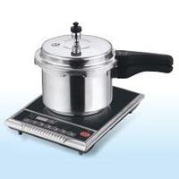 White Aluminium Outer Lid Pressure Cooker