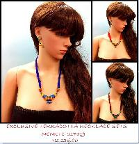 Beautiful terracotta jewelry with Blue combo looks ethnic