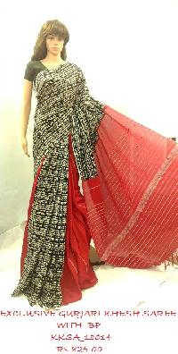 Gurjari khesh Saree for women to spike up their style quotient