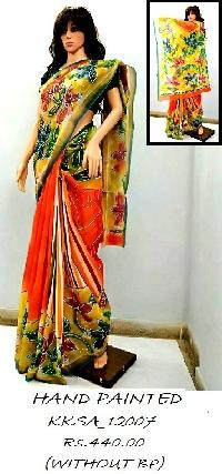 Handpainted Soft Cotton Sarees