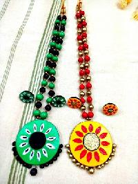 Terracotta Necklace vibrant colours that attract eye