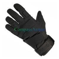 Leather Anti Riot Full Finger Gloves (Hellstorm)