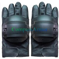 Leather Anti Riot Full Finger Gloves