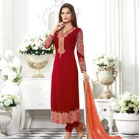 Ladies Georgette Semi Stitched Salwar Suit