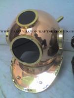 Black Glass 18 Inch Copper Diving Helmet
