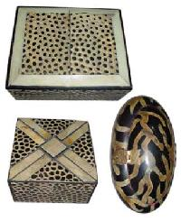 Horn Inlay Jewelry Boxes