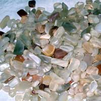 Moonstone Multicoloured Tumbled Gemstones