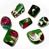 Ruby Fuschite Tumbled Stones