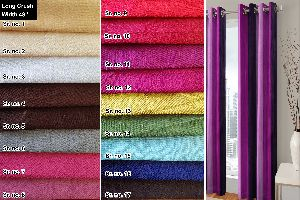 Long Crush Curtain Fabric