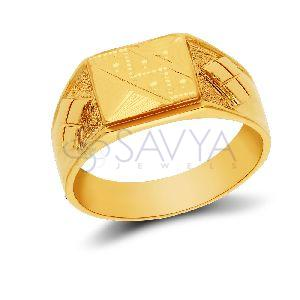 GR04_Gold Gents Ring