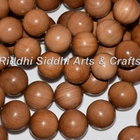 Carved Sandalwood Mala Beads