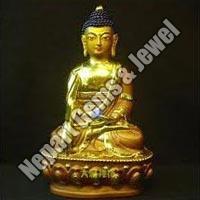 Gold Plated Buddha Statue