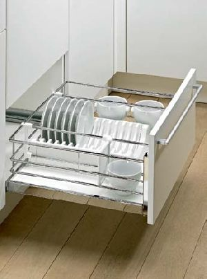 Pot-and-pan Drawer with non-slip coating